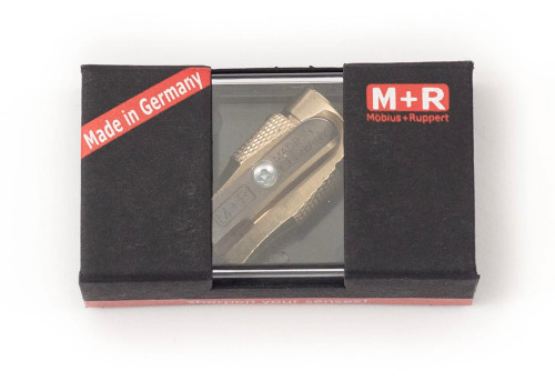 Product - Mobius + Ruppert Pollux brass pencil sharpener in box