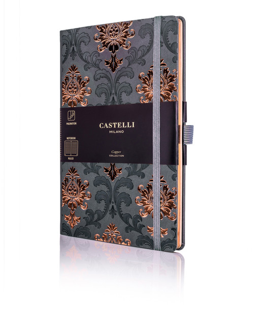 Castelli Baroque notebook, copper
