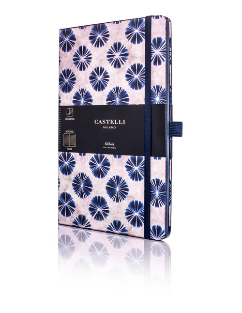 Castelli Shibori notebook, Flowers
