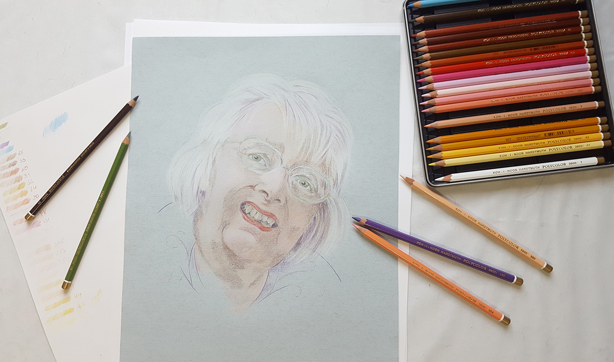 Koh I Noor Hardtmuth portrait pencils review: Sue Pownall
