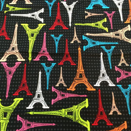 Paris Eiffel Tower fabric.