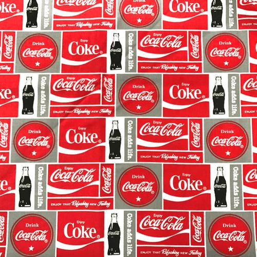 Coca Cola Greek Letter Fabric