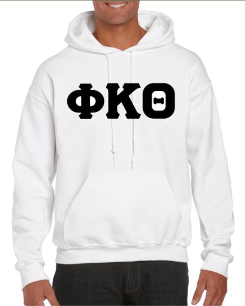 Phi Kappa Theta Black Imprinted Greek Hoodie