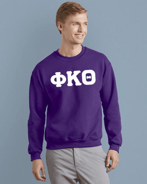 Phi Kappa Theta White Imprinted Crewneck Sweatshirt