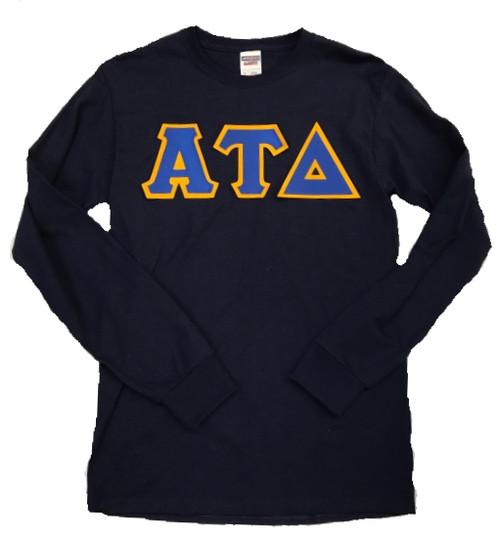 Long Sleeve Twill Greek Letter Shirt