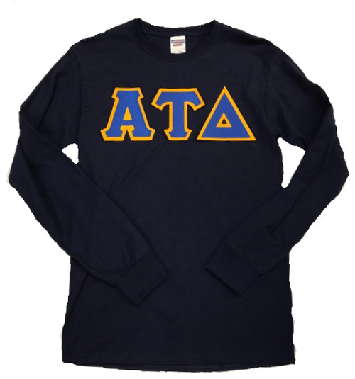 Long Sleeve Twill Greek Letter Shirt