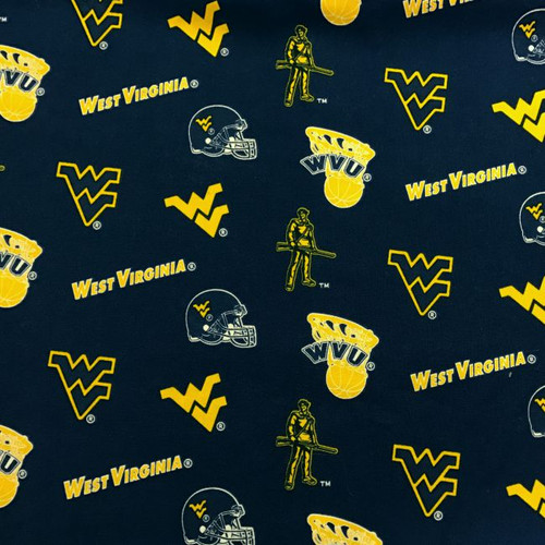 West Virginia University Fabric
