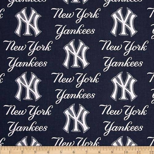 New York Yankees Greek Letters Fabric