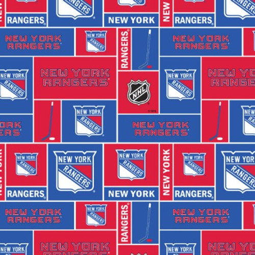 New York Rangers Greek Letter Apparel fabric