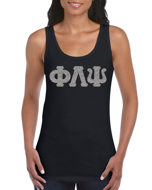 Glitter Greek Letter Tank Top