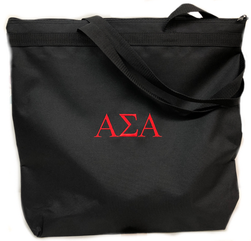 Alpha Sigma Alpha Embroidered Tote Bag