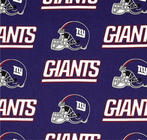 New York Giants Greek Letter Apparel Fabric