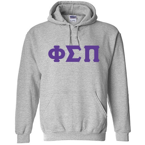 One Color Twill Greek Letter Hoodie