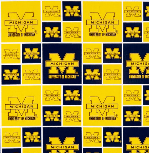 University of Michigan Greek Letter Fabric