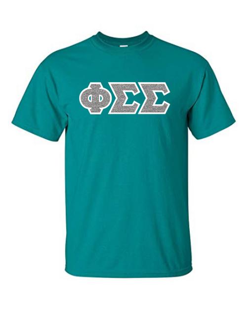 Glitter & Twill Greek Lettered T-Shirt