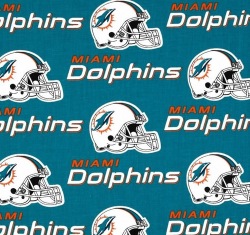 Miami Dolphins Greek Letter Fabric Swatch