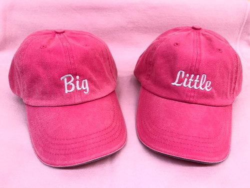 Big/Little Embroidered Hat Gift Set