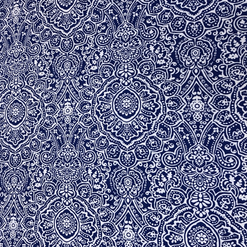Blue Motif Greek Letter Fabric