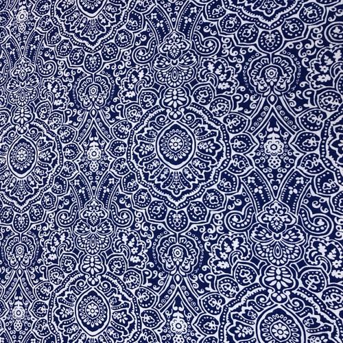 Blue Motif Greek Letter Fabric