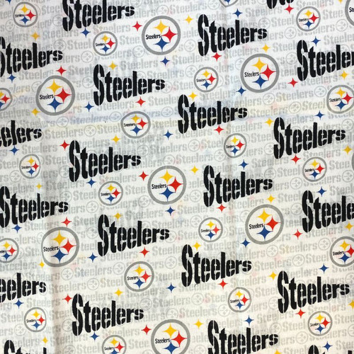 Pittsburgh Steelers 3 Greek Letter Apparel Fabric