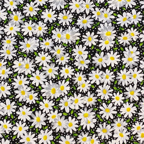 Daisies and Black Greek Letter Apparel