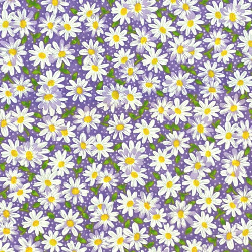 Daisies and Purple Greek Letter Apparel