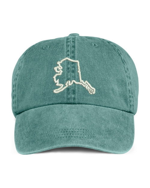 Alaska State Map Outline Embroidered Hat