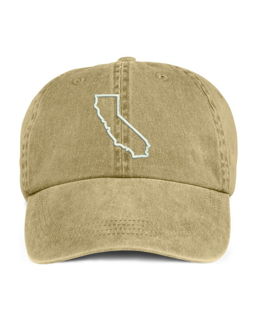 California State Map Outline Embroidered Hat