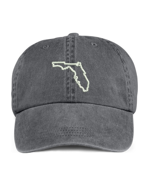 Florida State Map Outline Embroidered Hat
