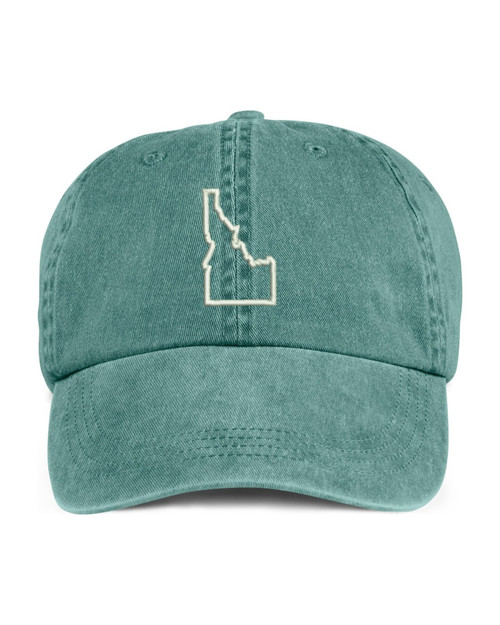 Idaho State Map Outline Embroidered Hat