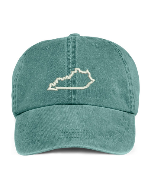 Kentucky State Map Outline Embroidered Hat