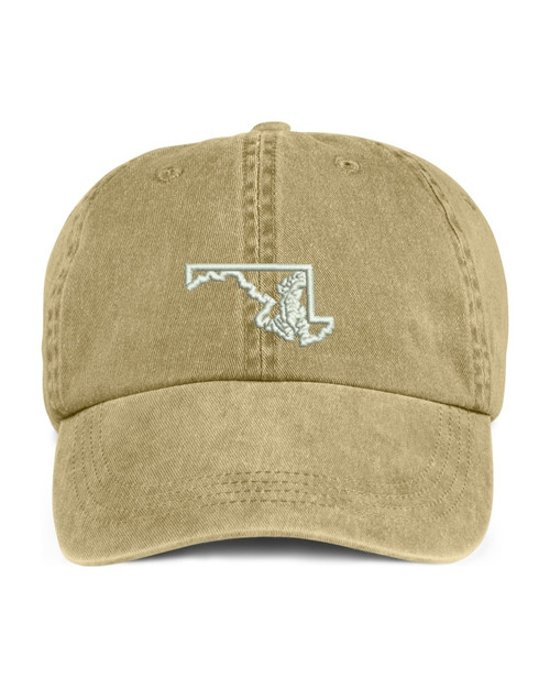 Maryland State Map Outline Embroidered Hat