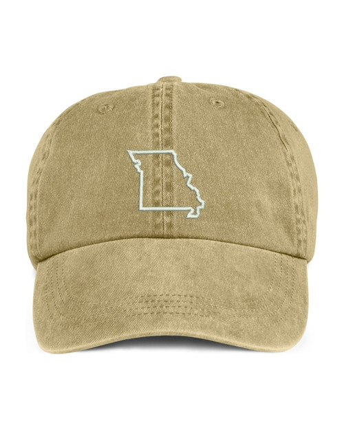 Missouri State Map Outline Embroidered Hat