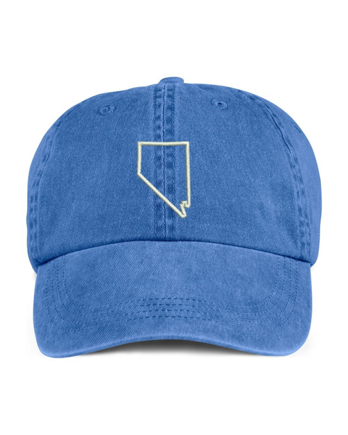 Nevada State Map Outline Embroidered Hat