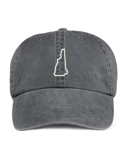 New Hampshire State Map Outline Embroidered Hat