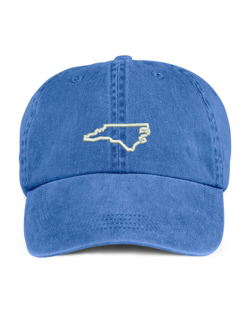 North Carolina State Map Outline Embroidered Hat