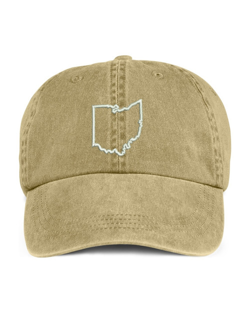 Ohio State Map Outline Embroidered Hat