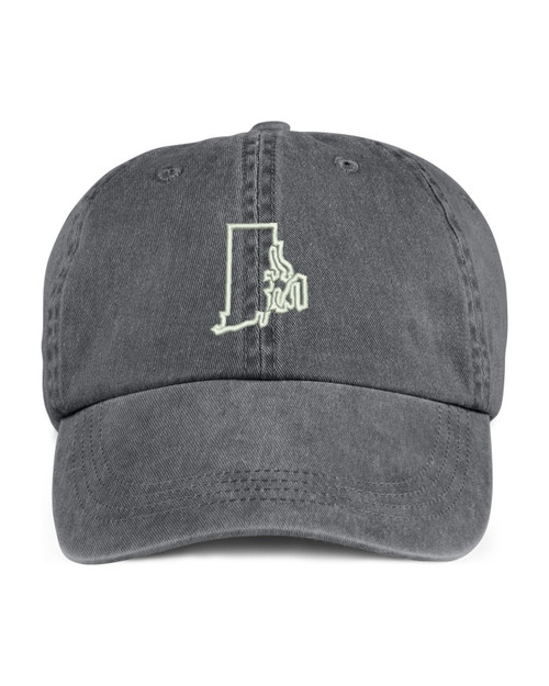 Rhode Island State Map Outline Embroidered Hat