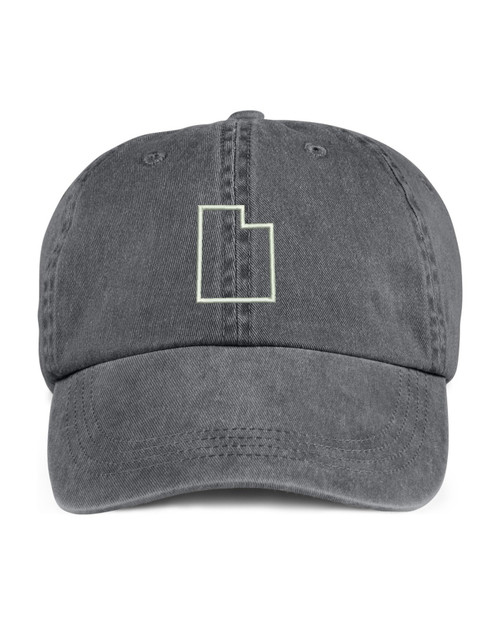 Utah State Map Outline Embroidered Hat