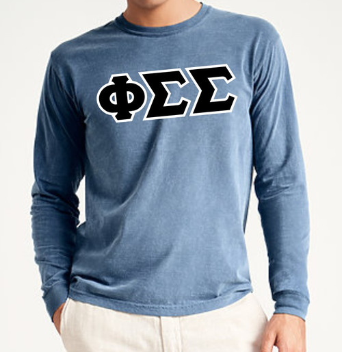 Comfort Colors Long Sleeve Greek Letter T-Shirt