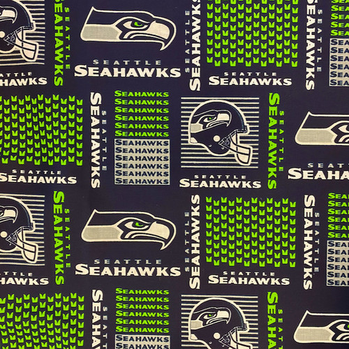 Seattle Seahawks fabric for Greek letters