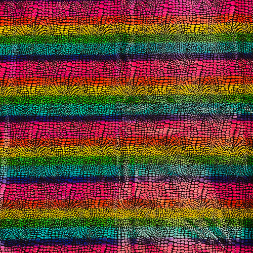 rainbow metallic snakeskin greek letter fabric for shirts