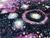 Galaxy Swirl Sparkle Greek Letter Apparel