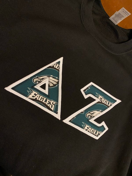 Delta Zeta Philadelphia Eagles Greek Letters