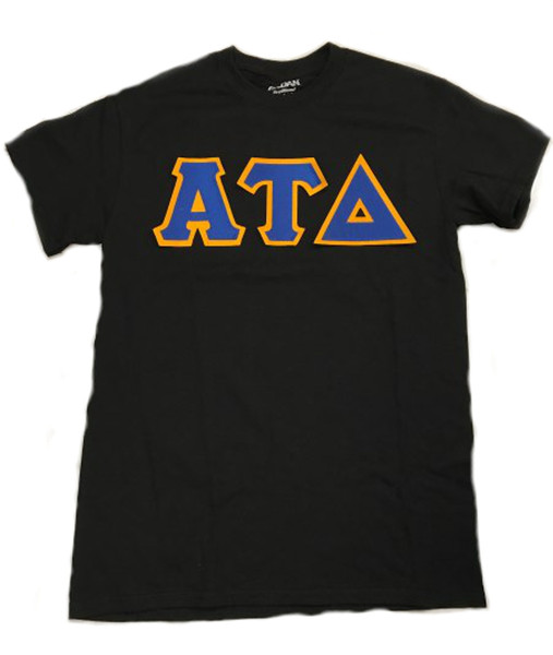 2-Color Sewn Twill Greek Letter Shirt