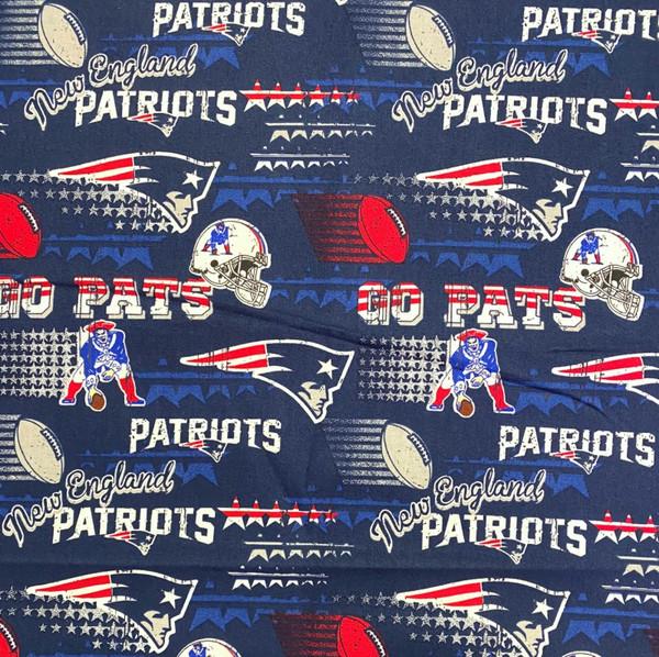 New England Patriots Greek Letter Fabric