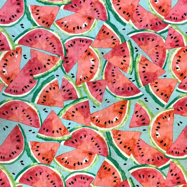 Watermelon Greek Letter Apparel Fabric