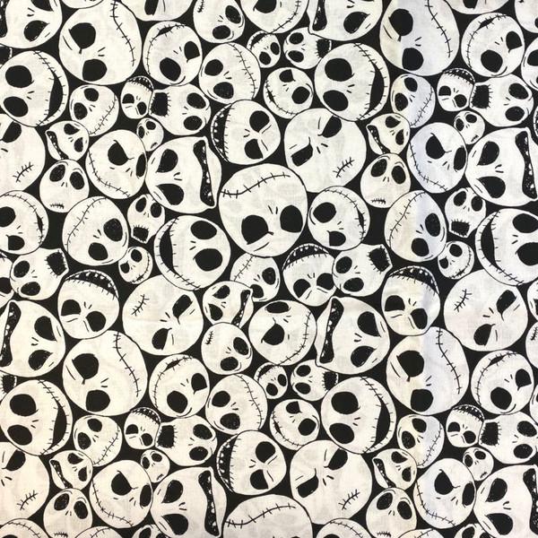 Nightmare Before Christmas Jack Skeleton Greek Letter Apparel Fabric
