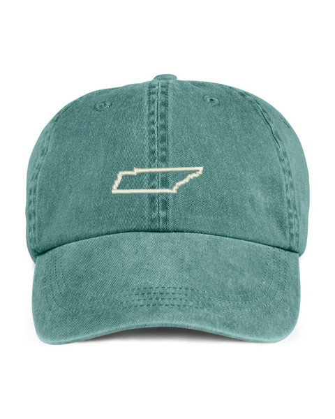 Tennessee State Map Outline Embroidered Hat