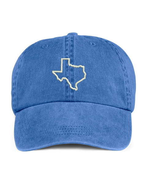 Texas State Map Outline Embroidered Hat